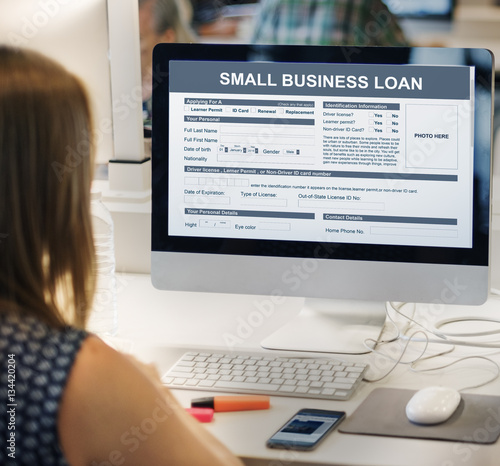 Fotografie, Obraz  Small Business Loan Form Financial Concept