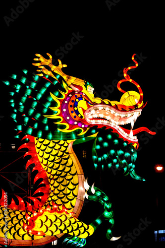 colorful of dragon,new year of chinese Poster