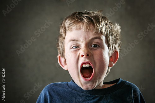 Fotografie, Tablou  Young Angry boy yelling