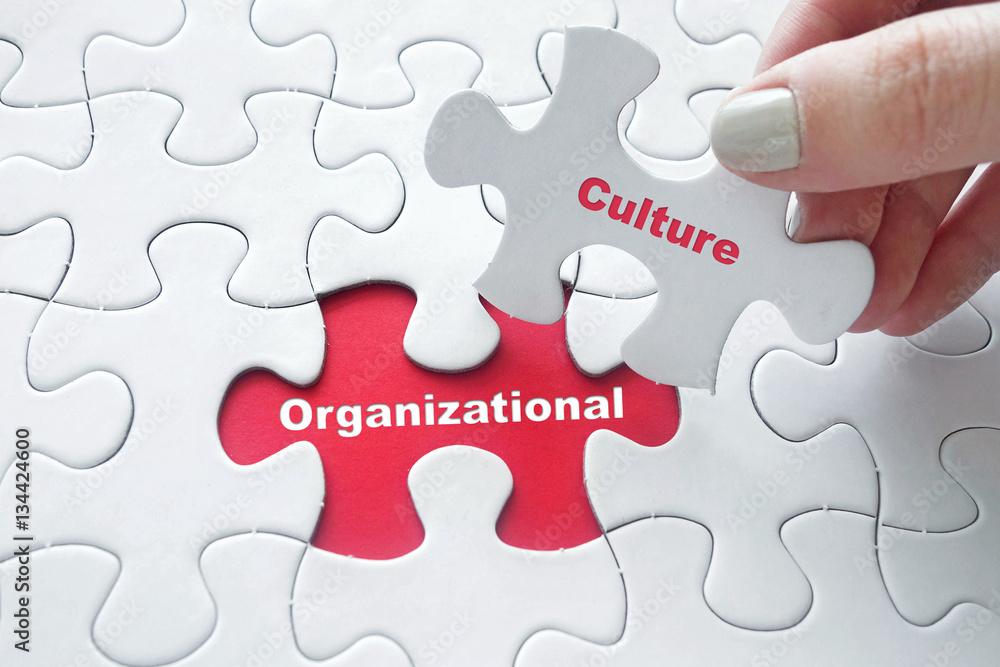 Fototapety, obrazy: Organizational Culture on jigsaw puzzle