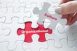 Leinwanddruck Bild - Organizational Culture on jigsaw puzzle