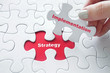 canvas print picture - Strategy Implementation on jigsaw puzzle