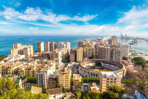 Photo  Panoramic view of Malaga