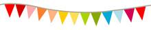 Wimpel Bunte Wimpelkette Banner Band Schwung Hintergrund
