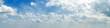 Leinwandbild Motiv Panorama of white cloud and blue sky in morning