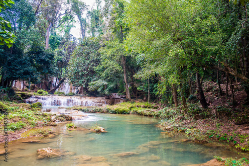 Fototapety, obrazy: Tansawan waterfall in Doi Phu Nang national park