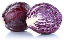 Blaukraut Rotkohl Kraut Kohl Geschnitten Gemüse Freisteller Fre