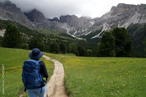 Photo  Wanderung auf der Cisles Alm im Naturpark Puez Geisler