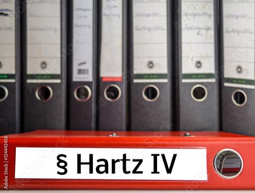 Photo  Aktenordner Hartz IV