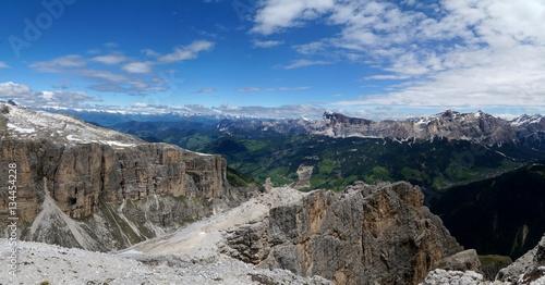 Photo  Bergpanorama mit Aussicht auf Fanes Gruppe