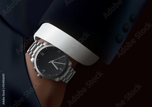 Fotografía montre - homme - manche de costume - poignet