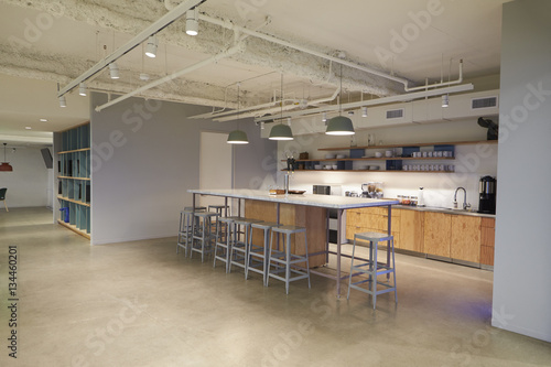 Fotografie, Tablou Corporate business cafeteria kitchen area, Los Angeles