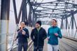 Morning winter jog