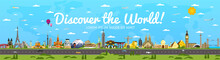 Discover The World Poster With...