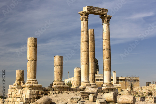 Foto op Canvas Rudnes The ruins of the ancient citadel in Amman, Jordan