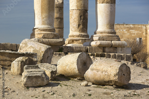 Poster Ruine The ruins of the ancient citadel in Amman, Jordan