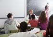 Teacher giving a math lesson