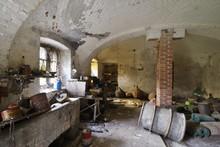 Old Abandoned Basement Full Of Junk