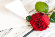 Beautiful Red Rose And Letter ...