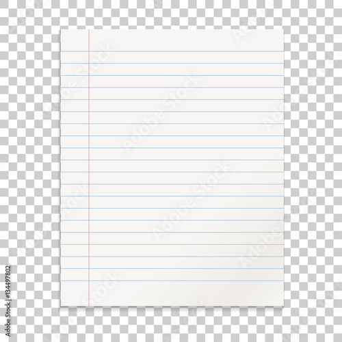 Foto  Realistic line paper note on isolated background