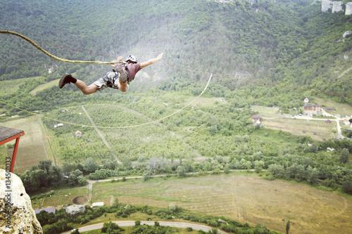 Fototapeta Rope jumping. obraz na płótnie