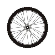 Bike Wheel Tire Icon Vector Il...