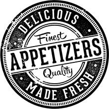 Appetizers Menu Design Stamp