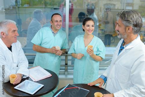 Fotografie, Obraz  Medical staff taking a break