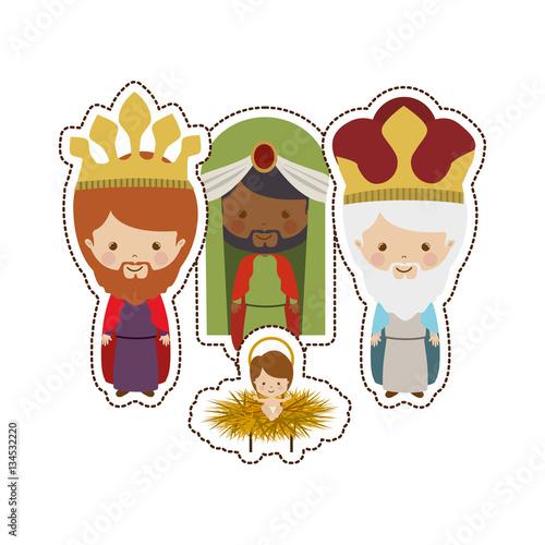 three wise men icon vector illustration graphic design Fototapete