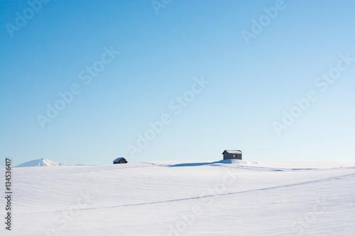 Fotografie, Obraz  青空と雪原