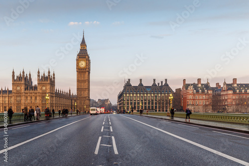 Poster London House of Parliament in early winter morning