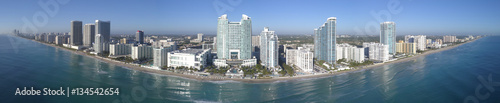 Photo  Aerial panorama of Hollywood Beach FL