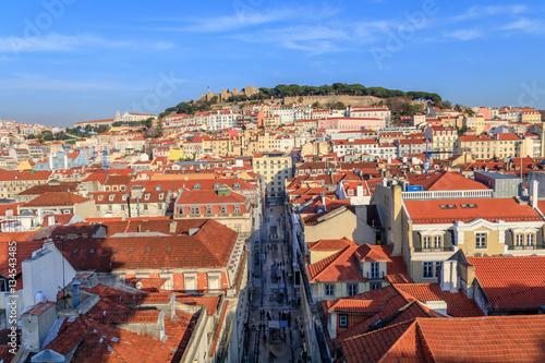 Photo  Vista da parte central da Lisboa de Santa Justa