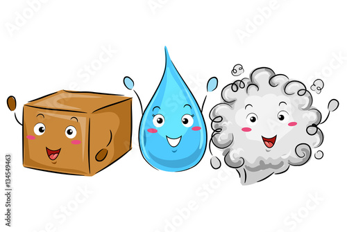 mascot science solid liquid gas buy this stock vector and explore rh stock adobe com