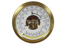 Old Round Barometer Meter Isol...