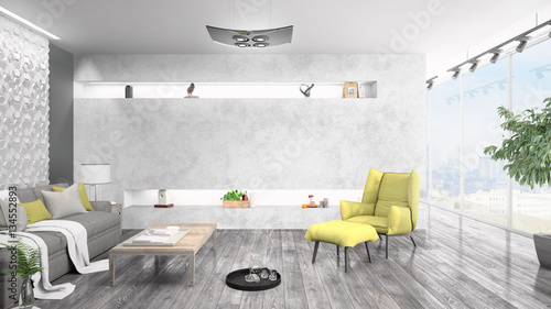 Fototapety, obrazy: Modern bright interior . 3D rendering