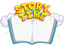 Book Story Time Lettering