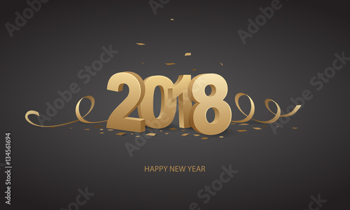 Happy New Year 2018 Wallpaper Mural