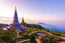 The Great Holy Relics Pagoda Of Nobhamethanidol-Nabhapolbhumisiri At Doi Inthanon, Chiangmai, Thailand.