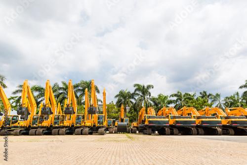 Shovel excavator on Asian rental company