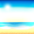 Beach background, vector image