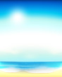 Beach background, vertical vector image