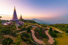 Phra That Doi Inthanon In Chiangmai, Thailand.
