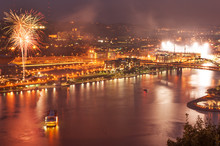 Night View Of Pittsburgh North...