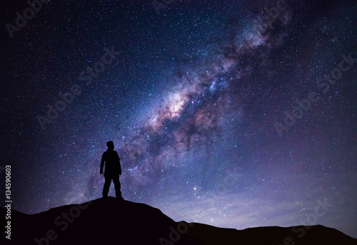 Milky Way landscape Canvas-taulu