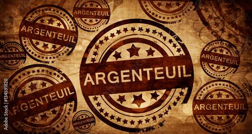 argenteuil, vintage stamp on paper background Canvas Print