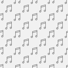 Fototapeta Music notes pattern