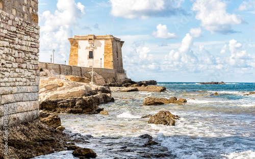 Poster Ville sur l eau Sea view with Ligny Tower, Trapani, Sicily. Italy.