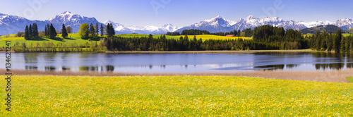 Fotografiet  Panorama Landschaft im Allgäu bei Füssen
