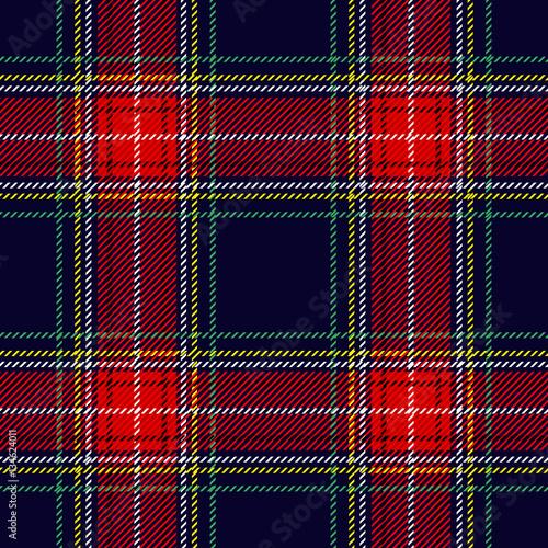 Seamless Scottish plaid checkered vector pattern. Wall mural